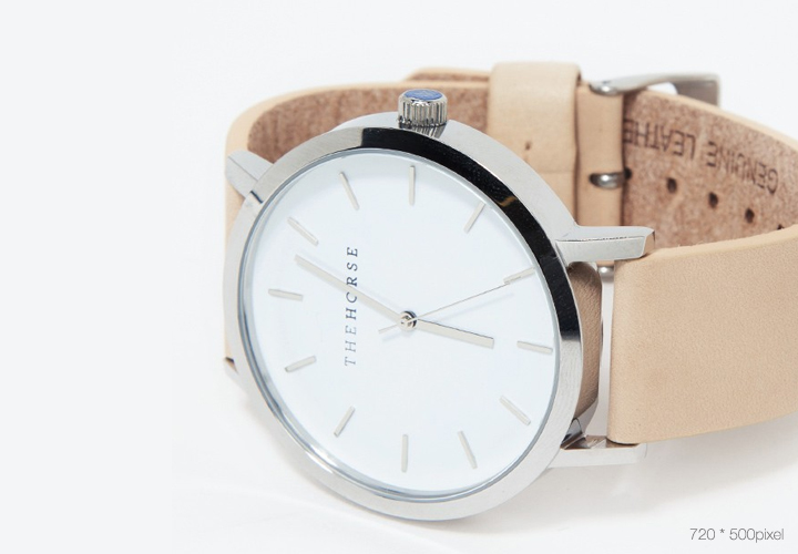 beige leather watch - limited item